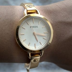 Rose Gold Women's Fossil Watch - WORN ONCE